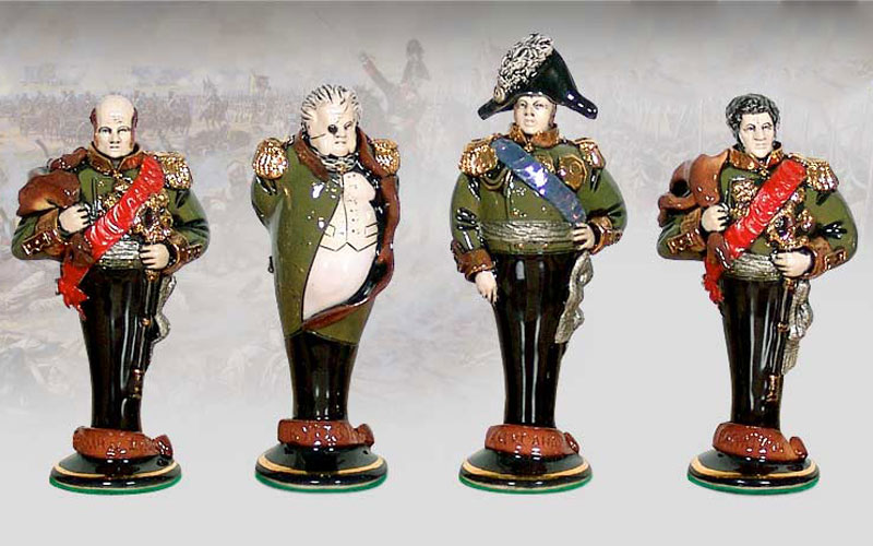 "Gift chess set ""Borodino"" (small). Russian army. Figures"