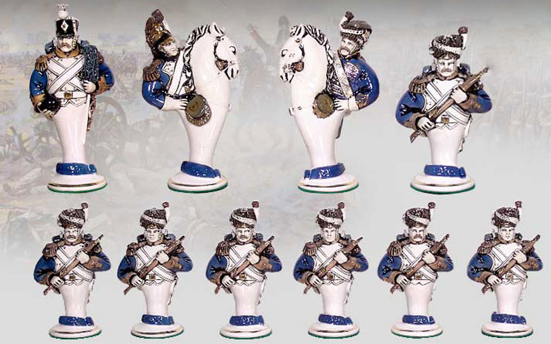 "Gift chess set ""Borodino"" (small). French army. Pawns"
