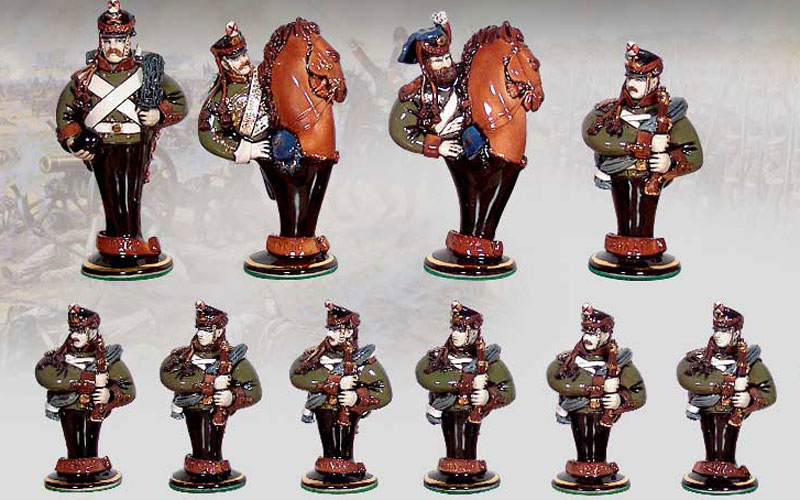 "Gift chess set ""Borodino"" (small). Russian army. Pawns"