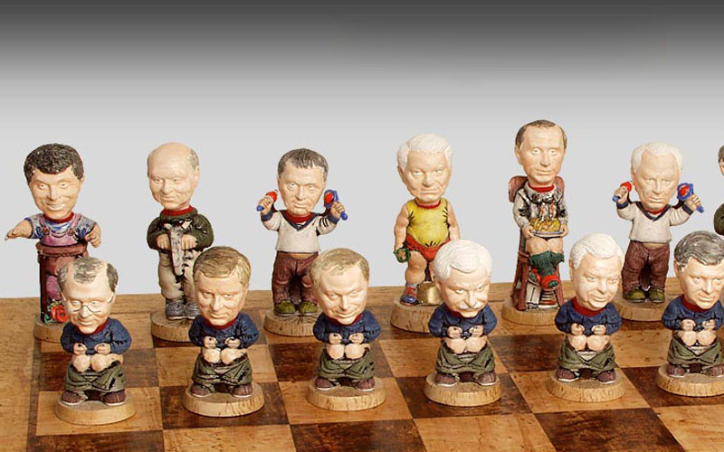 "Chessmen ""Our boys"". Black"