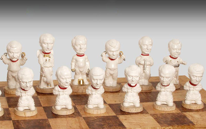 "Chessmen ""Our boys"". White"